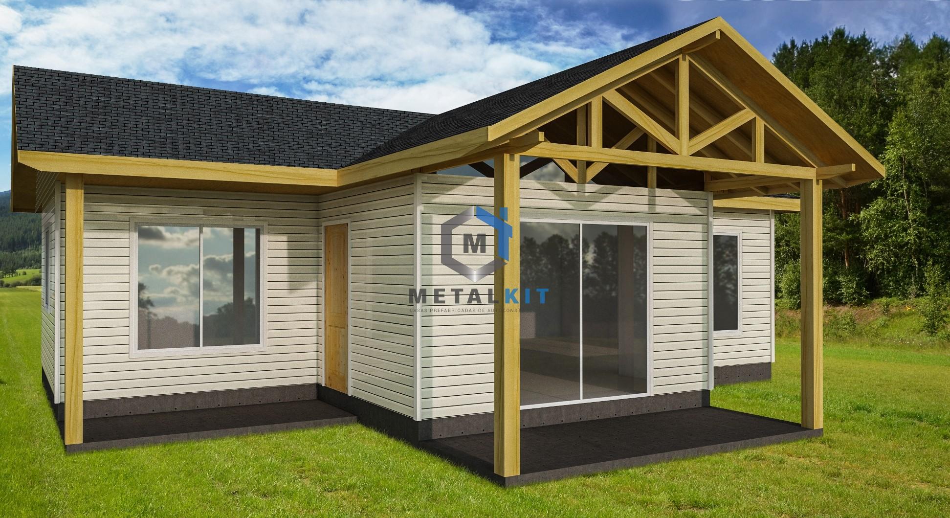 Casas tradicionales llave en mano modelo casa 65m for Kit casas prefabricadas