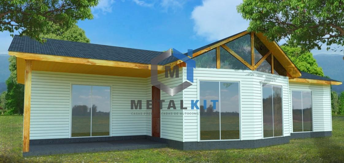 Casa llave en mano en chile modelo casa 94m for Kit casas prefabricadas