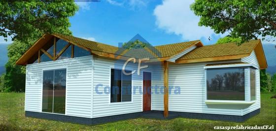 Casas prefabricadas casa llave en mano modelo casa 102 82m for Modelos de casas prefabricadas