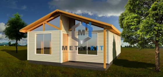Casas Prefabricadas Metalcon Metalkit 54m2.