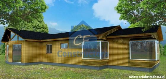 Casa prefabricada casa llave en mano modelo casa 129 16m - Modelo casa prefabricada ...