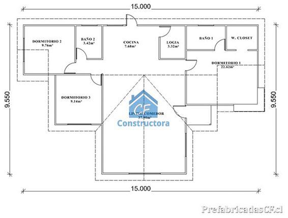 Casas prefabricadas planos casas modulares con planos - Planos casas modulares ...