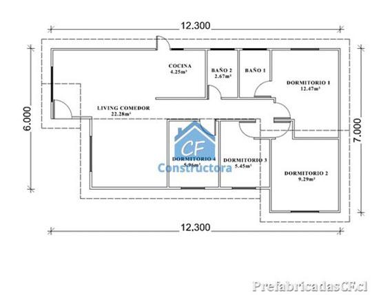 Casas prefabricadas planos casas modulares con planos - Modelo casa prefabricada ...