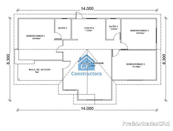 Casas prefabricadas planos casas modulares con planos for Modelos planos de casas para construir