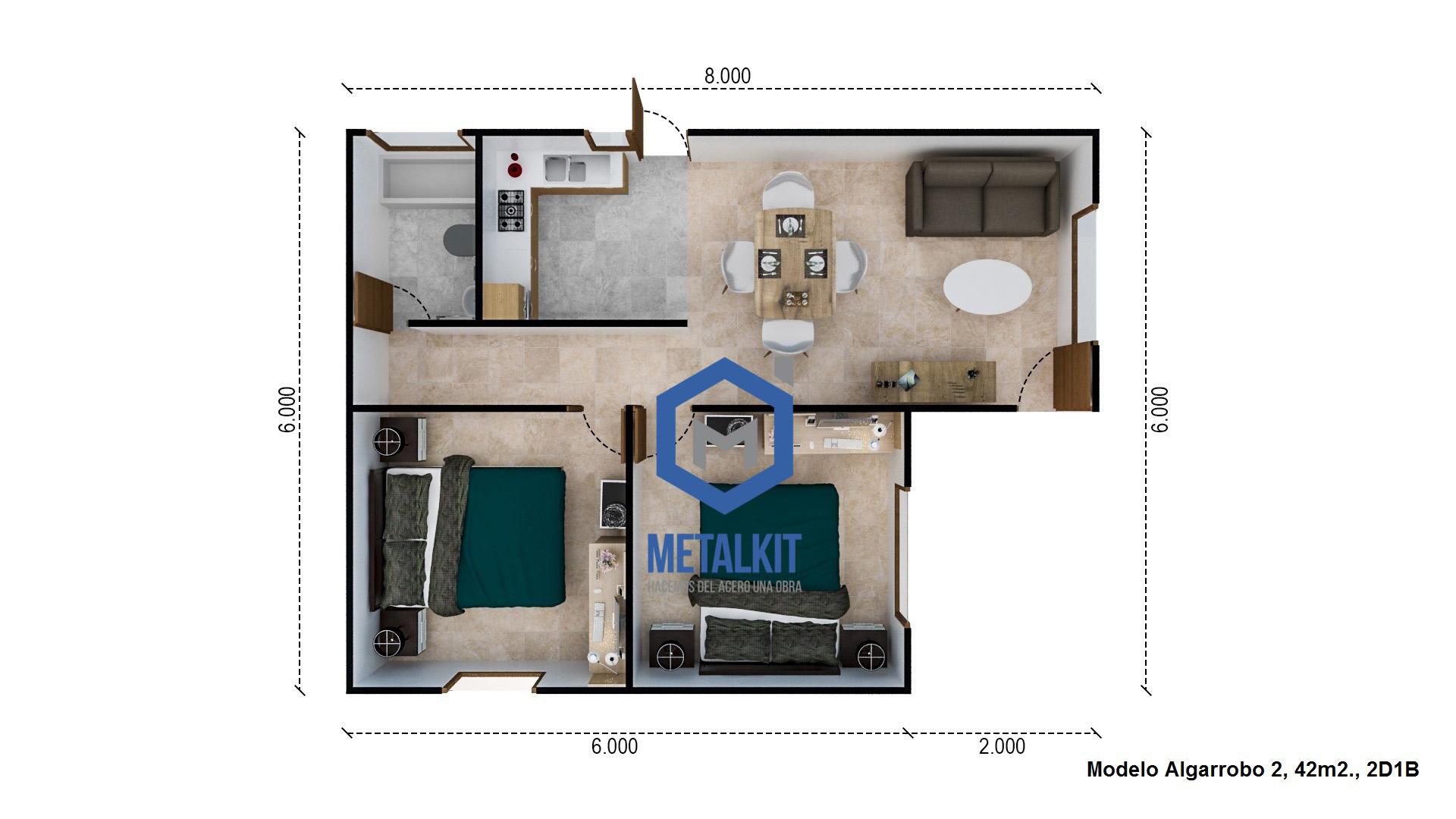 Cf casas prefabricadas casas modulares metalcom y madera - Habitaciones de madera prefabricadas ...